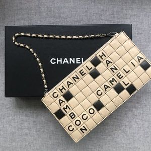 Chanel Crossword Quilted leather Pochette